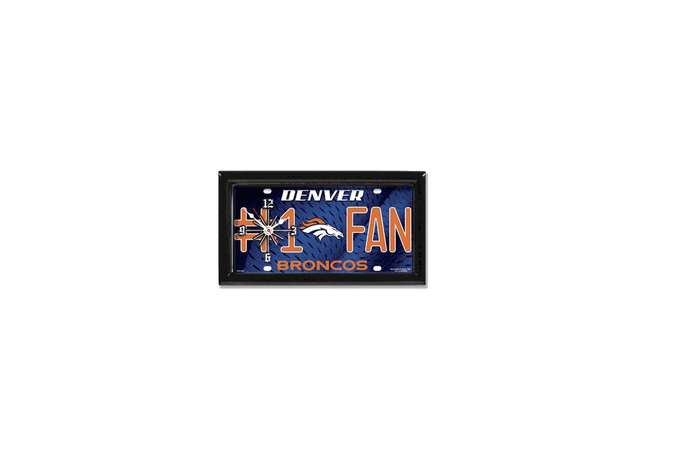 Denver Broncos License Plate Clock - mytacticalworld