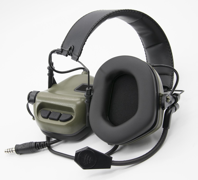 Earmor M32 MOD1 Electronic Communication Tactical Hearing Protector Radio  Headset (Color: FOG GREEN)